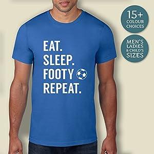 Men's Eat. Sleep. Footy. Repeat. Football Shirt, Football T-Shirt, Mens Football Shirt, Football Gift Idea, Boys Gift, Mens Gift, Football Fan