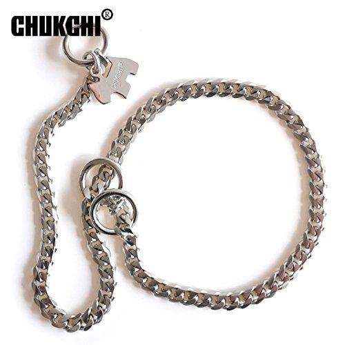 ltra Starke Designer Pitbull Halsband 50,8cm breit Slip Kette Halsband-Edelstahl DOG TRAINING Choke Best für Pit Bull, Mastiff, Bulldogge, Big Rassen -