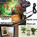 Wskderliner Aquarium Thermometer Digital LCD mit Saugnapf Zubehör für Fisch Vivarium, Schwarz