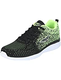 Red Tape Men's Black/Green Running Shoes