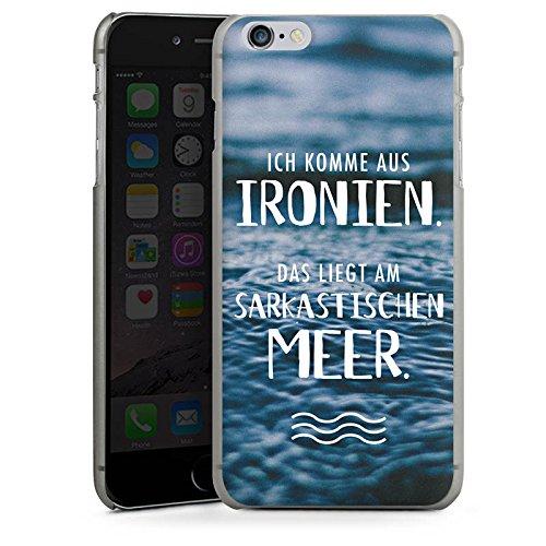 Apple iPhone X Silikon Hülle Case Schutzhülle Spruch Humor Statement Hard Case anthrazit-klar