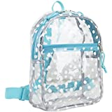 Eastsport 100% Transparent Clear Mini Rucksack with Adjustable Straps