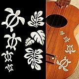 Honu Familie & Hawaiian tropischen Pflanzen Einlage Aufkleber/WP