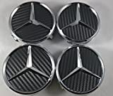IGGY 4 x Kappen Nabendeckel Felgendeckel Logo Mercedes-75 mm – Klasse A B C und CLK GL M ML SLK Nieten Felgen Legierung Auto Stopper