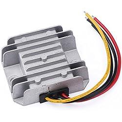 DROK® DC-DC convertisseur abaisseur 12V/24V à 5V 5A 25W abaisseur de tension de transformateur Volt Regulator Module d'alimentation Converter étanche pour voiture LED Display, etc