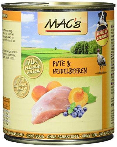 Mac's Pute & Heidelbeeren, 6er Pack (6 x 800 g)