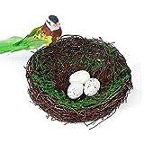 FGASAD künstliches Vogelnest, dekorative Requisiten, Rattan und Zweige, Vogelnest, Kunst und Handwerk Heimdekoration, Hochzeitsdekoration