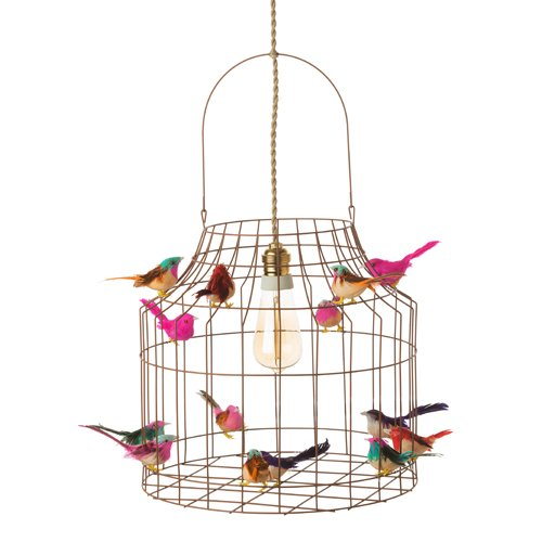 Hängeleuchte Esstisch Küche, Dimmbar, von Vogelkäfig mit Vögeln in Eisen vintage metal Cage Corb, Esszimmerleuchte Küchentisch Rustic...