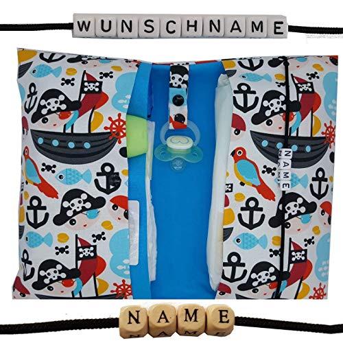 Windeltasche XXL Piraten mit Namen Schiff Maritim