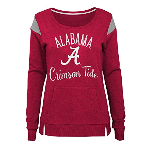 Gen 2 NCAA Alabama Crimson Tide Junioren Classic Crew Pullover Fleece, Junioren X-Large (15-17), Victory rot -