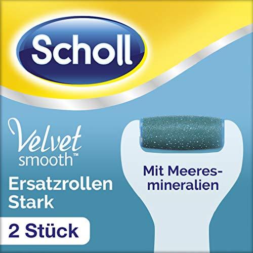 Starke Haut (Scholl Velvet Smooth Wet und Dry Ersatzrollen Stark (Nachfüller für die elektrischen Hornhautentferner von Scholl, mit Meeresmineralien) 2 Rollen)