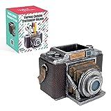 Global Gizmos 46059 - Portapenne vintage per fotocamera e cancelleria e organizer da scrivania
