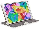StilGut UltraSlim Case V2, Custodia con Funzione di Supporto per Samsung Galaxy Tab S 8.4, Bianco