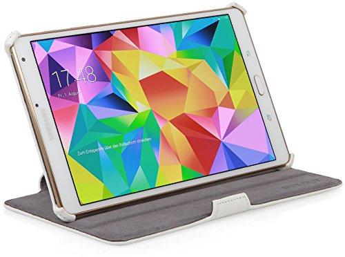 StilGut® UltraSlim Case V2, Tasche mit Stand- und Präsentationsfunktion für Samsung Galaxy Tab S 8.4, weiß