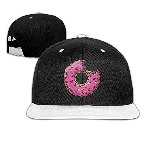 (Cool Pink Sweet Donut Doughnut Peaked Hip-Hop Cap Red)