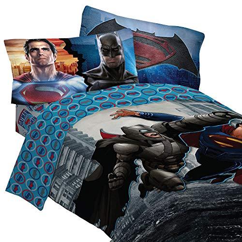 Batman VS SUPERMAN Betten Set Worlds Finest Helden Tröster und Betttuch Set, Polyester-Mischgewebe, multi, Twin