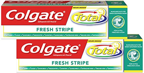 Colgate Total Fresh Stripe Zahnpasta, 6er Duo-Pack (6 x 2 x 75 ml) -