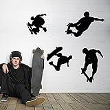 ufengke Personalizado de Moda Creativa Skate Pegatinas de Pared, Sala de Estar Dormitorio Re...