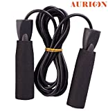 #10: AURION PREMIUM QUALITY STANDARD JUMPING SKIPPING ROPE WITH COMFORTABLE FOAM GRIP FOR WEIGHT REDUCING / WARM-UP / GYM / SPORTS & GENERAL FITNESS.