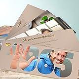 Einladungskarten 30 Geburtstag, Jahrgang 1985 200 Karten, Kartenfächer 210x80 inkl. Umschläge, Braun