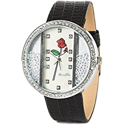 Womens Watch with Rose Design and Loose Beads