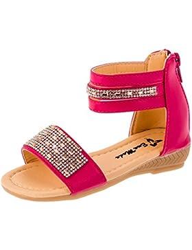 Bequeme modische Mädchen Sandalen mit Glitzer in 3 Farben