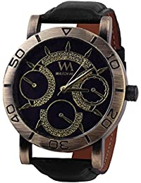 Watch Me Analog Black Dial Leather Strap Boys And Men's Watch WMAL-093-BBboys