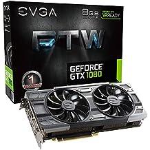 EVGA GeForce GTX 1080 FTW Gaming ACX 3.0, 8GB GDDR5X, RGB LED, 10CM Fan, 10 Power Phases, Double BIOS, DX12 OSD Support (PXOC) Carte Graphique 08G-P4-6286-KR