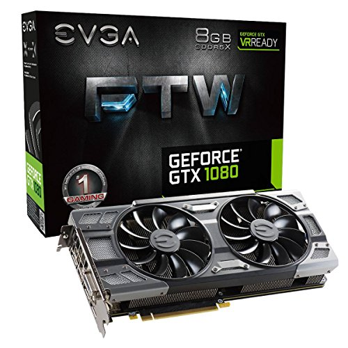 EVGA GeForce GTX 1080 FTW GAMING ACX 3.0, 8GB GDDR5X, RGB LED, 10CM FAN, 10 Power Phases, Double BIOS, DX12 OSD Support (PXOC) Grafikkarte 08G-P4-6286-KR Gaming-pc Mit 16 Ram