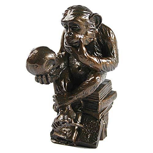 Parastone Museums Kollektion Pocket Art - Musée Sculpture - Miniature Singe  avec crâne - Après W H  rheinhold