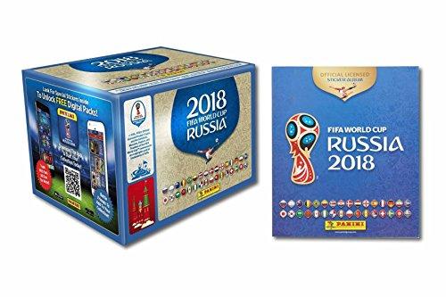 p 2018 - Sticker WM Russia 2018 - 1 Album + 1 Display mit 50 Tüten = 250 Sticker - Serie besteht aus 670 Bildern - Version NL, BE, LU und andere ()