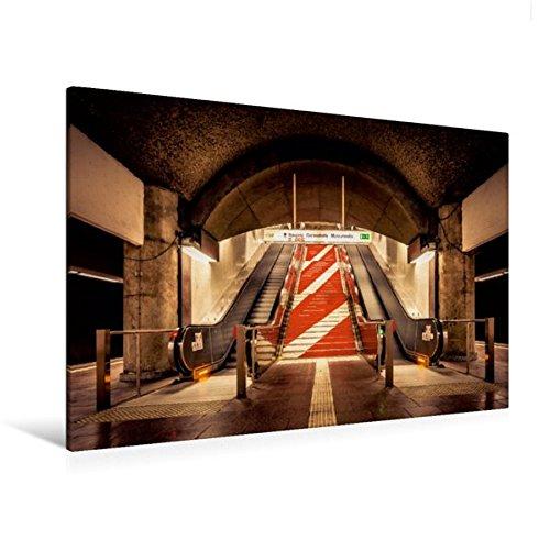 Calvendo Premium Textil-Leinwand 120 cm x 80 cm quer, U-Bahn Station Schweizer Platz | Wandbild, Bild auf Keilrahmen, Fertigbild auf echter Leinwand, Leinwanddruck Orte Orte