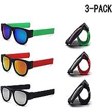 3a8895c9a2b11 Slapsee lunettes de soleil pliantes lunettes polarisantes lunettes  commodément plier et clip sur le poignet