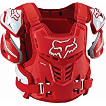 Fox Racing Raptor Vest Mens Roost Deflector Motocross Motorcycle Body Armor - Red - Large/X-Large by Fox Racing