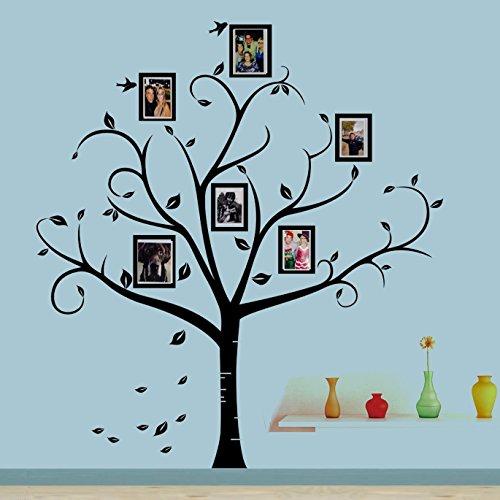 Dior Wandaufkleber, Motiv: Baum mit Kirschblüten im Wind, Wandaufkleber, für Kinderzimmer, Baum, Blumen, Schmetterling, Kinderzimmer, Wanddekoration