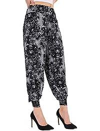WearAll - Grande taille uni pantalons harem pants - Pantalons - Femmes - Tailles 40 à 54