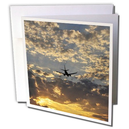 Oregon, Portland. Flugzeug mit Landing Gear-Grußkarte, 15,2x 15,2cm, Single (GC 93584_ 5) - Oregon Lager