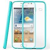 moex Samsung Galaxy Ace 2 | Hülle Slim Transparent Türkis Impact Back-Cover Dünn Schutzhülle Silikon Handy-Hülle für Samsung Galaxy Ace 2 Case TPU Tasche Matt