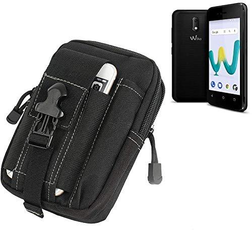 K-S-Trade für Gürtel Tasche Wiko Sunny 3 Mini Gürteltasche Schutzhülle Handy Hülle Smartphone Outdoor Handyhülle schwarz Zusatzfächer
