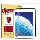 OMOTON [3 Stück] Panzerglas Schutzfolie kompatibel für iPad Air 3 2019/ iPad Pro 10.5 Zoll 2017, mit Schablone, 9H Härte, Anti-Kratzen, Anti-Öl, Anti-Bläschen