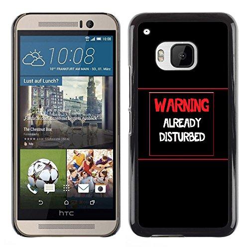Stuss Case / Premio Sottile Slim Cassa Custodia Case Bandiera Cover Armor PC Aluminium - Attenzione - Già DisturbedAdvertencia - Ya Disturbed - HTC One M9