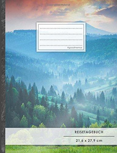 """Reisetagebuch: DIN A4, """"Bergsteiger"""", 70+ Seiten, Softcover, Register, Kontaktliste • Original #GoodMemos Travel Diary • Reiselogbuch zum Selbstgestalten"""