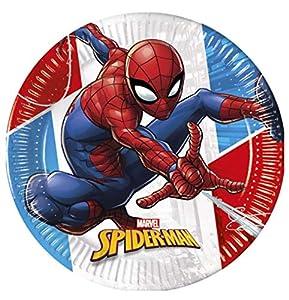 PROCOS 90948 - Platos para Fiestas (diámetro de 23 cm, 8 Unidades), diseño de Spiderman