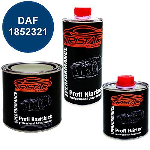 Preisvergleich Produktbild 1,25 Liter 2K Lack Set DAF 1852321 SEPANGBLAU M. ab 2010 - Profi Autolack spritzfertig & Klarlack & Härter