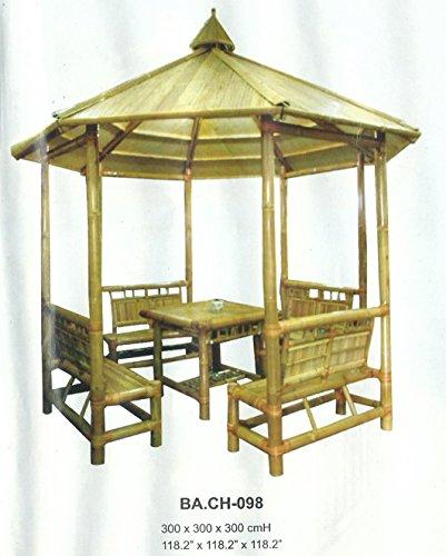 Bambou de meubles de jardin gazebo tonnelle tente pavillon jardin