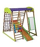 KindSport Centro di attività Karamelcek-plus, anelli, barre di scimmia, scivolo per bambini, al netto di arrampicata, scala svedese