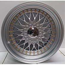 2x Ruedas de aleación BBS RS estilo 16x 9.0Hyper Dorado y Plateado Remaches greggson (gg-62-cc)