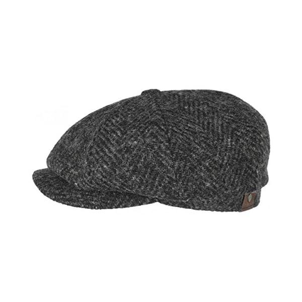 Hatteras Herringbone Coppola Stetson berretti piatti cappello ... 3a56f99dae8f