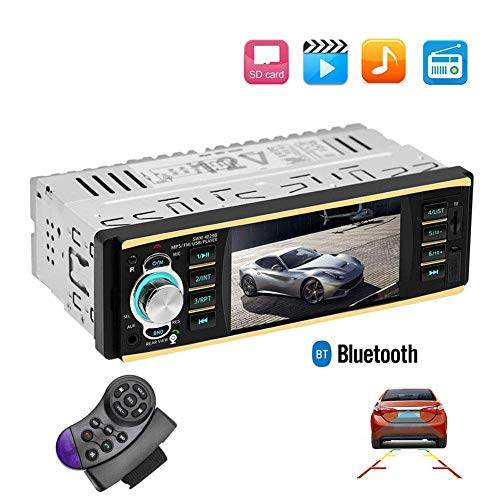 Meteor fire Auto MP5 DVD-Player, 4,1-Zoll-Auto-Multimedia-Karten-Maschine mit Stereo-Bluetooth-Freisprecheinrichtung 1 Din-Auto-Audio-Unterstützung, die Bildfunktion umkehrt