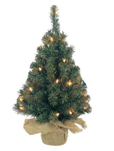Kaemingk 671103 Minibaum im Jutesack, innen, 230V, 50 Minilichter klar, Höhe 90 cm